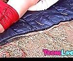 Horny Teen Babe on the farm