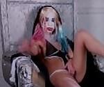 Harley Quinn solo anal fingering