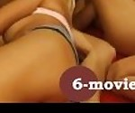 6-movies.com - 5 horny lesbians pussy licking and sex toys -