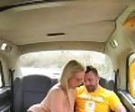 FemaleFakeTaxi Busty milf fucks Sutton fan and takes a facial on match day