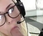 Mofos - Blonde Gamer Rides Cock