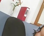 Jana Mrazkova is feeling horny at the office