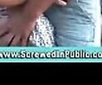 Public amateur exhibitionist couple