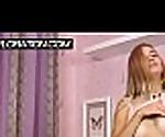 Blonde Chernova grabbing her body