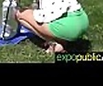 (tina walker) Horny European Girl Exposed In Public Love To Bang On Camera movie-28