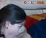 DEEPTHROAT CAM GIRL GOES DEEP IN HER