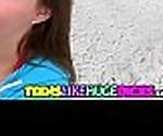 Sweet teen Anna vs big dick