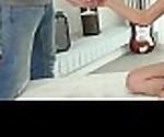 Creampie-Angels.com - Selena Mur - Babe cums into glass
