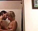 Real couple take a shower