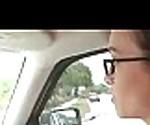 Hot slut give blow job in car 4