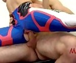 Overwatch cosplay D.va ass to mouth fucked through torn yoga pants. Mia