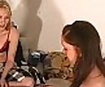 Blonde fucked with strapon in truth or dare