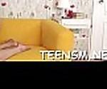 Shy teen deepthroats large weenie
