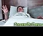 Slutty stepteen sucks rod
