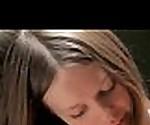 Hot horny cute teen lesbian babe gets