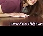 High school teen rimmed