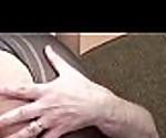 Horny coed Alisha Adams is bouncing on a stiff cock