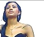 Indian teen wearing black bra and panty