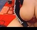 Romanian sucks her own Big Tits in panties -tinycam.org