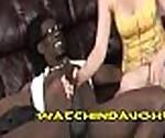 Blonde Teen Sucking Giant Black Cock
