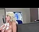 (Бриджит б) грудастая девушка, получать прибил Жесткий стиль в офисе видео-06
