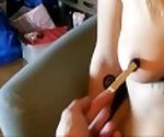 PervyPixie\'s Nipple gets some elastic Torture