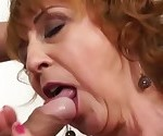 Sexy Czech grandma fucks young lucky boy