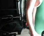Cum in green wrestling singlet