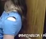 Public Elevator Girl Fingers Girl Passionately!