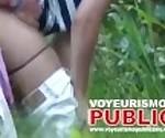 Любители Городской Парк - Общественное Вуайерист Секс. Шпион пару Кэм трахаются в кустах.