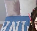 POV Dildo Blowjob by a Cute Gamer girl