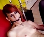 Masturbating & Cumming while Ball-gagged