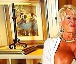 Old granny with huge tits and tanned body