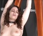 Feet whipping and amateur slave bondage of punished bdsm submissive Beau
