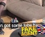 Fake Agent UK Interviewee takes Big butt plug and hard anal fucking for job