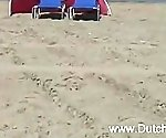 Chubby Dutch Fucked On The Beach