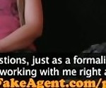 FakeAgent Horny Mum freaks out after she\'s creampied in Office