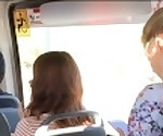 Real Public Quickie Handjob In Mini Bus, She Like it!