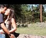 Я поцелуй небольшой коричневый в лес - пару любительских французский Sextwoo -