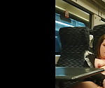 sexy wife flashing fingering and squirting on the train