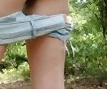 Stripping naked while hiking and getting off with my glass toy!