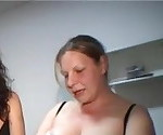 A Milf and her fat friend fuck men
