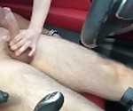 Dick Flash: Big tit MILF gives risky roadside handjob and eats my cum!!!