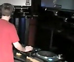 DJ fucking Groupie behind his Decks