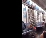REAL NEWYORK FREAKS FUCK ON TRAIN @nevaskimp on ig!