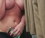 MILF Public Nudity at The Walmart - Big Tits and Public Masturbation