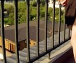 PUBLIC SEX ON BALCONY. NEIGHBORS WERE DELIGHTED