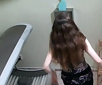 18 yo Playing With her Pussy in Solarium