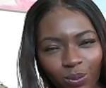 Gorgeous ebony Noemie Bilas oils up soft body