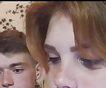 Young Russian teen lovers - sexy dick sucked and cum